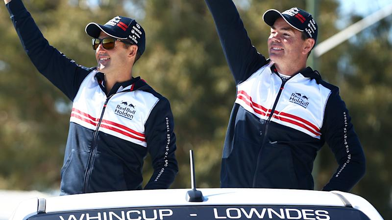 Jamie Whincup and Craig Lowndes, pictured here ahead of the Bathurst 1000.