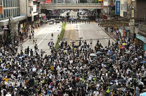 July 1 protesters marched on Hong Kong's streets to vent their anger at the new legislation. Photo: Sam Tsang