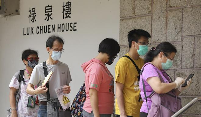 There has been a cluster of cases at Luk Chuen House in Sha Tin. Photo: K.Y. Cheng