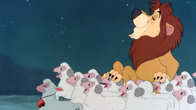 'Lambert the Sheepish Lion'. (Credit: Disney)