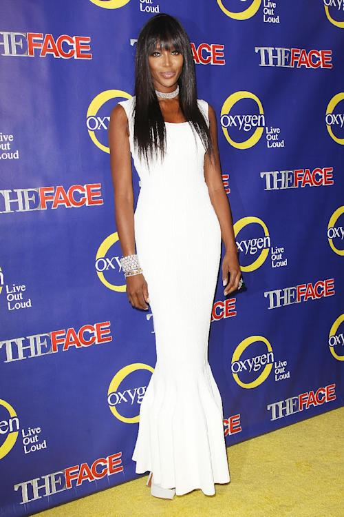 "This Feb. 5, 2013 photo released by Starpix shows model Naomi Campbell at the premiere of the Oxygen network series, ""The Face,"" in New York. Campbell, along with models Coco Rocha and Karolina Kurkova, are coaches to aspiring models in a competition to find the next face of beauty retailer ULTA Beauty. The show, hosted by fashion photographer Nigel Barker, premieres on Feb. 12 at 9 p.m. EST on Oxygen. (AP Photo/Starpix, Kristina Bumphrey)"