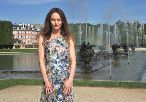 Vanessa Paradis poses during the Chanel 2012/13 Cruise Collection Photocall at Chateau de Versailles on May 14, 2012 -- Getty Images