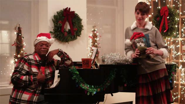 It's Anne Hathaway vs. Samuel L. Jackson in a harrowing Holiday 'Sad Off'