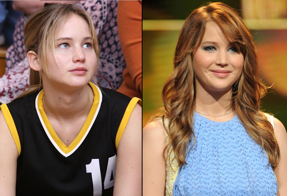 then and now the hunger games cast  Jennifer Lawrence