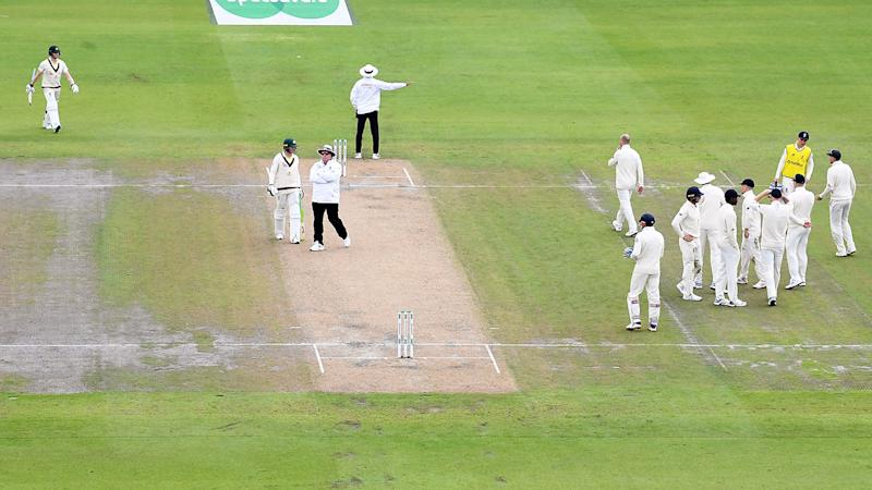 Steve Smith, pictured here walking back to the crease after the blunder.