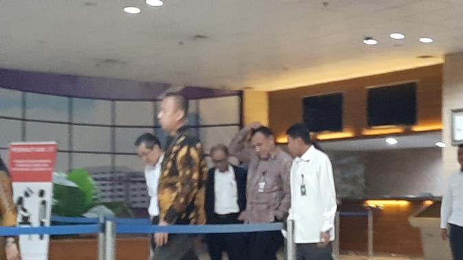Ketua KPK Firli Bahuru menyambangi kantor BPK Pusat. (Liputan6.com/Ady Anugrahadi)