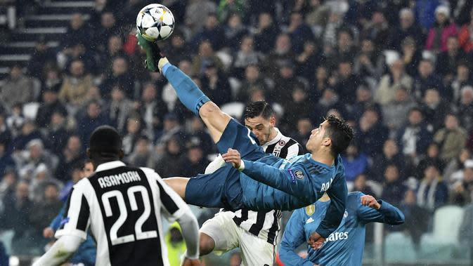 5. Menjadi pencetak gol terbanyak Liga Champions selama enam musim berturut-turut, dari musim 2012/2013 sampai 2017/2018. (AFP/Alberto Pizzoli)