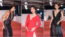 【金鐘55】紅毯女星大深V比凶狠 白家綺用禮服宣布寶寶性別