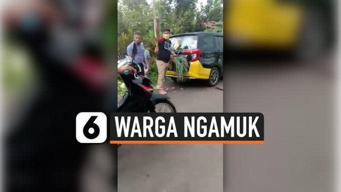 VIDEO: Viral, Warga Ngamuk di Depan Pos Jaga Covid-19