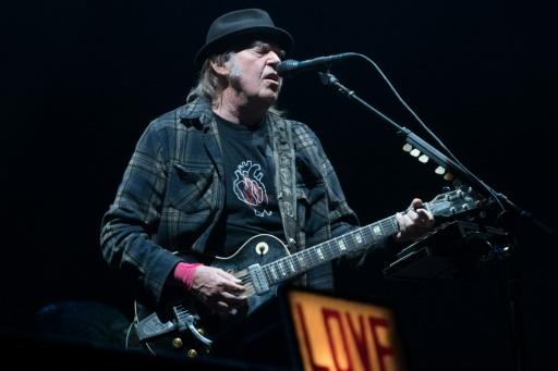 Canadian rock legend Neil Young at this year's Festival d'�t� de Qu�bec