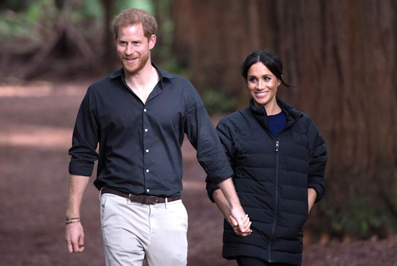 Prince Harry and Meghan Markle in New Zealand in October 2018. | REX/Shutterstock