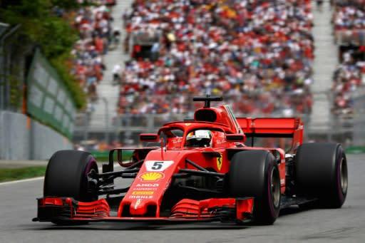 Sebastian Vettel during the Canadian Formula One Grand Prix - Mark Thompson/Getty Images/AFP