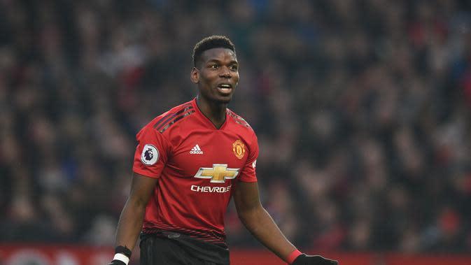 Sejak Solksjaer datang, Pogba berkontribusi atas 56,5% gol Man United. Alhasil ia digadangakn menjadi salah satu pemain terbaik Premier League musim ini. (AFP/Oli Scarff)