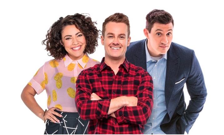 Grant, Ed and Ash were axed by the Hit Network and replaced with a music-only program. Photo: Hit Network