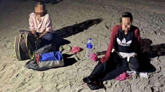 Ya Ampun, WNI Hamil Tua Ditangkap Tentara Malaysia di Pantai