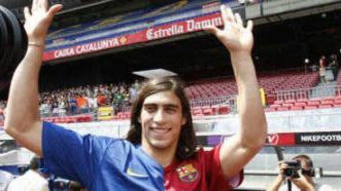 Martin Caceres ketika berkostum Barcelona.