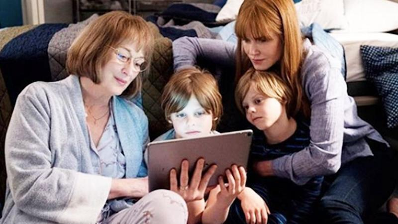 Nicole shared a photo to Instagram of Meryl, herself and her on-screen twin sons Max and Josh, played by Nicholas and Cameron Crovetti. Source: Instagram / nicolekidman