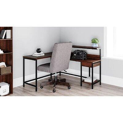 Williston Forge Enprise L Shape Desk Metal Wood Steel In Rustic Brown Size 29 H X 54 W X 19 D Wayfair 788a6c8a20c04ed9abd1a59b3d1f5722 Yahoo Shopping