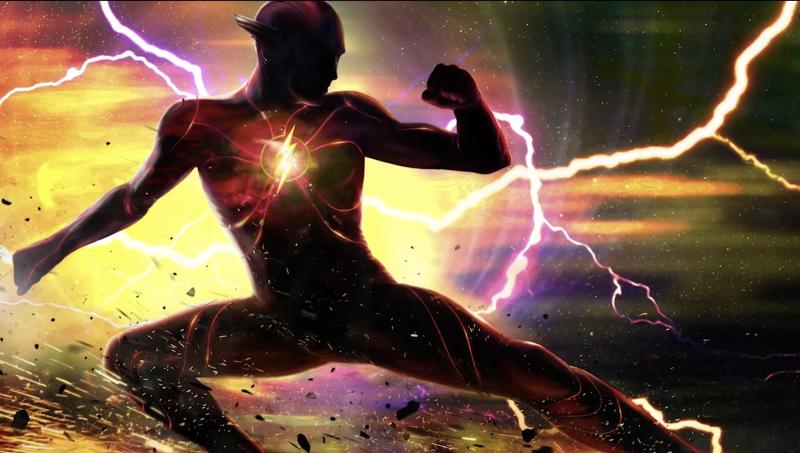 Concept art of Barry Allen's new 'Flashpoint' suit
