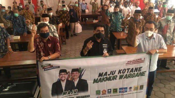 Pilkada Surabaya: Ribuan Purnawirawan TNI AL Dukung Machfud-Mujiaman