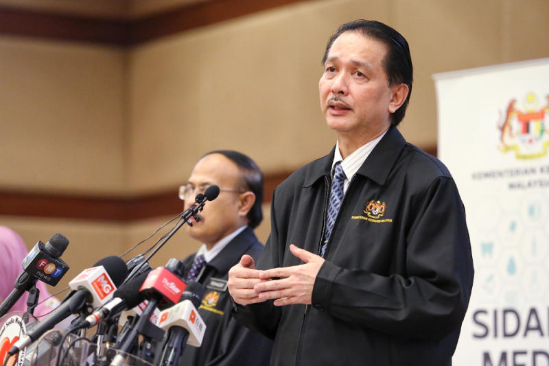 Health director-general Datuk Dr Noor Hisham Abdullah giving a press conference on Covid-19 in MOH , Putrajaya May 28, 2020. — Picture by Choo Choy May