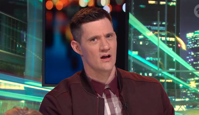 Constant Ed Kavalee didn't make it easy for the new couple, making every inappropriate comment possible. Photo: Ten