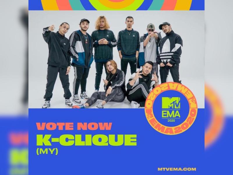 Sabah's hip hop group K-Clique has received an MTV EMAs nomination.