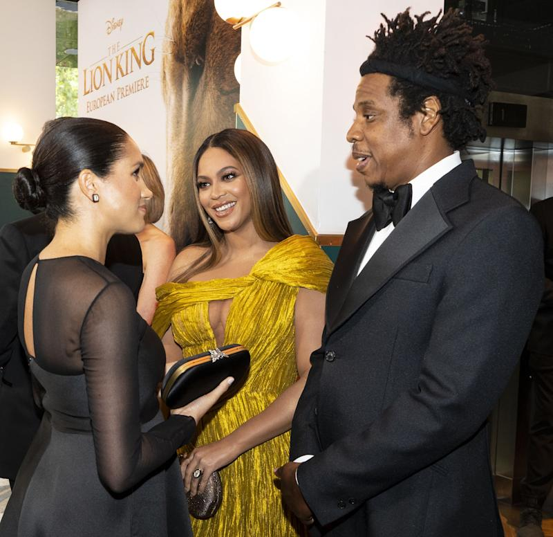 Meghan Markle and Beyonce's meeting was highly anticipated. Photo: Getty Images