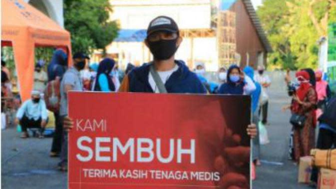 Pasien sembuh dari Corona COVID-19 di Surabaya, Jawa Timur (Foto: Dok Pemkot Surabaya)