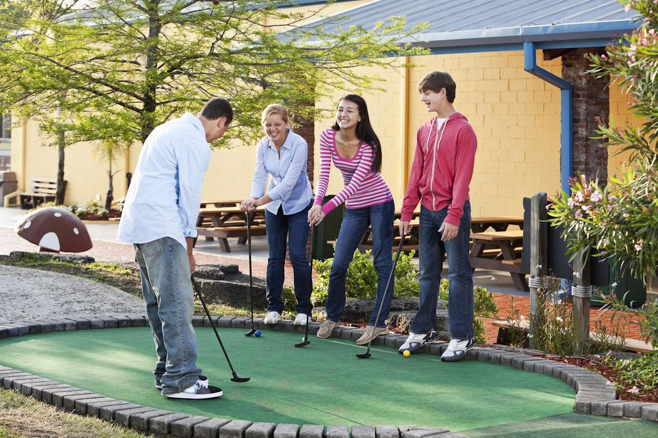 <p>Treat them to an activity that reminds you of your summers past: bowling, mini-golf, arcades, even lasertag. You'd be surprised at how little these places have changed, and yet how easy it is for teens today to still get into them. (If your teens refuse to go for it, you can go for the 21st-century equivalent — an escape room.) </p>