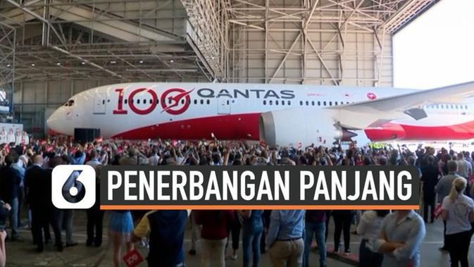 VIDEO: Qantas Tuntaskan Sensasi 19 Jam Nonstop di Udara