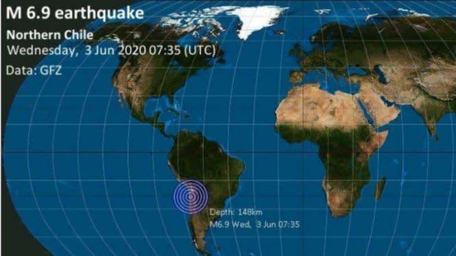 Kabar Gempa Bumi Chile Gegerkan Media Sosial Twitter