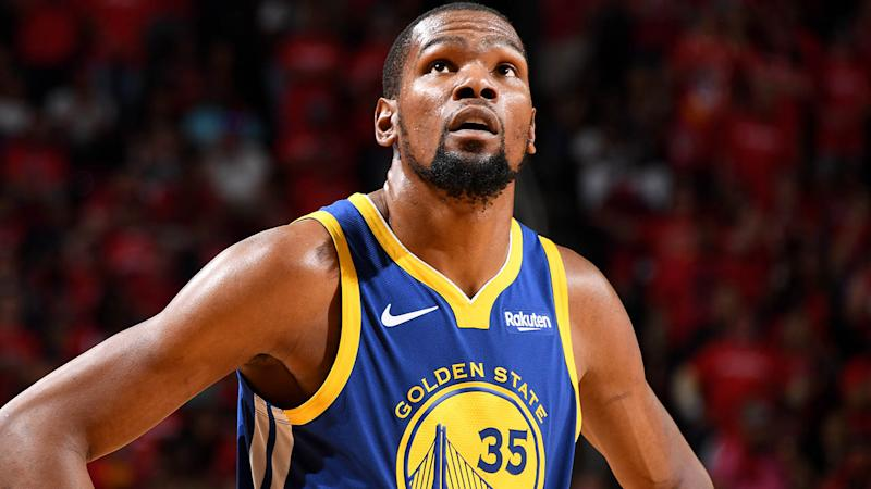 Durant exits due to right calf strain