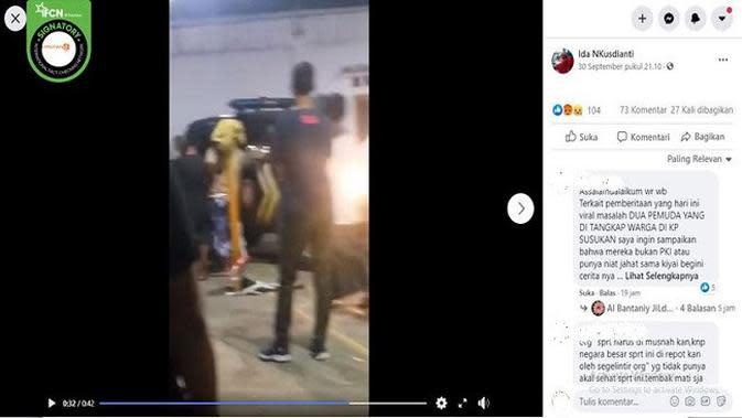 Gambar Tangkapan Layar Video Dua Pemuda Diamankan Warga di Sukabumi