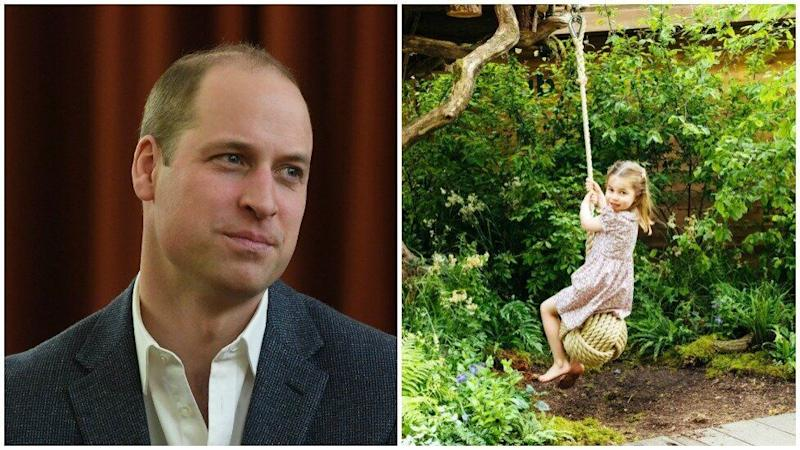 Prince William may have revealed his nickname for Princess Charlotte in a video of the family playing at Chelsea Flower Show.