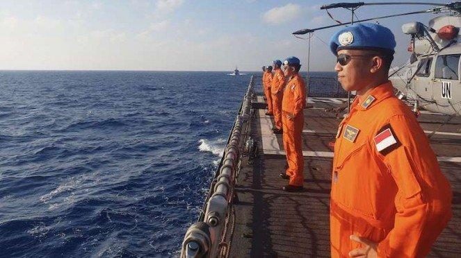 Awak kapal KRI Sultan Hasanuddin-366