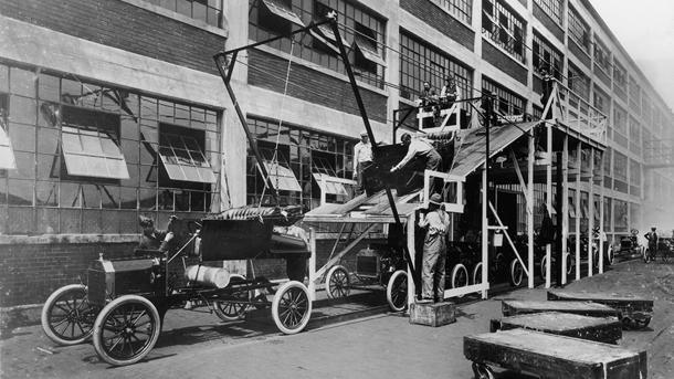 August 12: The first Ford Model T comes together on this date in 1908