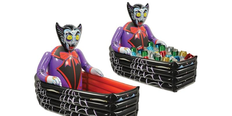 Keep Your Canned Cocktails Chilled This Halloween With An Inflatable Coffin Cooler