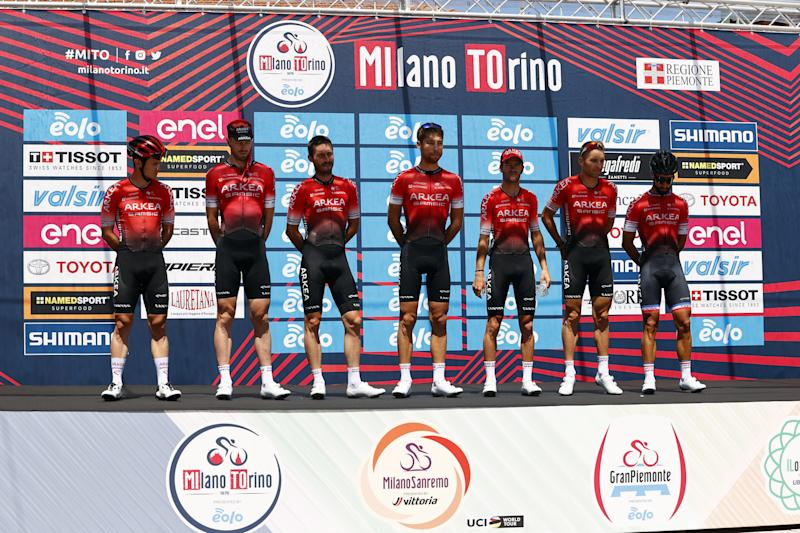 Team Ineos at the start of 2020 Milano-Torino