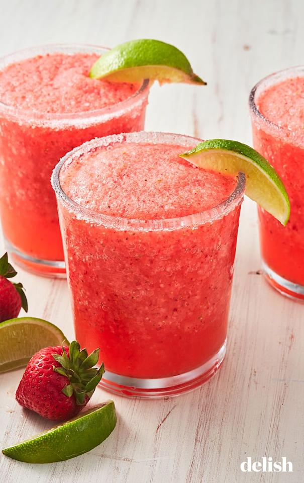 """<p>We LOVE this mash-up.</p><p>Get the recipe from <a href=""""https://www.delish.com/cooking/recipe-ideas/a19686810/moscato-margaritas-recipe/"""" target=""""_blank"""">Delish</a>.</p>"""