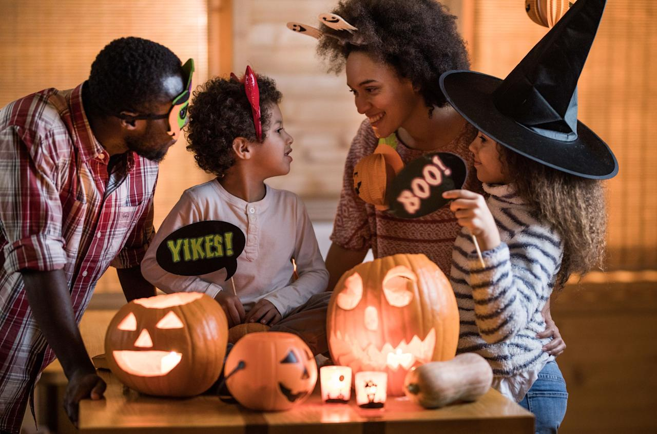 """<p>This Halloween has the potential to be epic: the holiday falls on a Saturday (which means we get an entire day of <a href=""""https://www.goodhousekeeping.com/holidays/halloween-ideas/news/a40935/buy-the-cheapest-halloween-candy/"""" target=""""_blank"""">candy</a>, <a href=""""https://www.goodhousekeeping.com/holidays/halloween-ideas/g23653854/best-halloween-costumes-of-all-time/"""" target=""""_blank"""">costumes</a>, and <a href=""""https://www.goodhousekeeping.com/holidays/halloween-ideas/g22062770/halloween-crafts-for-kids/"""" target=""""_blank"""">crafts</a>) and there will even be a full moon (so spooky!). That said, there are a few things that will set Halloween 2020 apart from all other years — most notably, the coronavirus pandemic and everything that comes with it. But just because we need to remain socially distanced this year doesn't mean Halloween is canceled — it just means we need to brainstorm creative quarantine Halloween ideas. </p><p>Ahead, we've compiled a list of the best ways to safely celebrate Halloween in 2020. From setting up a few <a href=""""https://www.goodhousekeeping.com/holidays/halloween-ideas/g2618/halloween-games/"""" target=""""_blank"""">festive Halloween games</a> to cooking a spread of <a href=""""https://www.goodhousekeeping.com/food-recipes/healthy/g28005141/healthy-fall-recipes/"""" target=""""_blank"""">yummy fall foods</a>, these ideas will help you have the best Halloween yet. Forget everything you know about how October 31 is traditionally celebrated; these quarantine Halloween ideas will help you have a spooky socially distanced celebration right at home. All you need to do is put on your costume, eat some candy, and get ready for a haunting Halloween house party. </p>"""