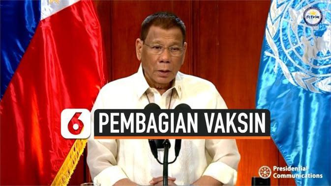 VIDEO: Presiden Filipina Sampaikan Pembagian Vaksin harus Merata di Seluruh Dunia