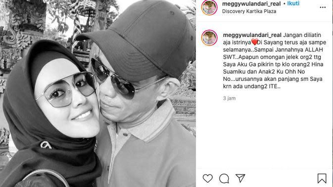 Meggy Wulandaari Ancam Laporkan yang Hina Suami dan Anak-Anaknya. (instagram.com/meggywulandari_real)