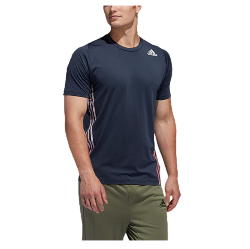 Adidas Men's True 3 Stripe T Shirt. Image via Sport Chek.