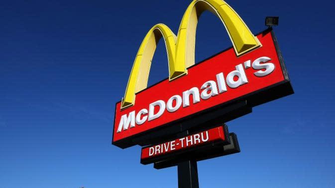 ilustrasi logo McDonald's (AFP/Justin Sullivan)