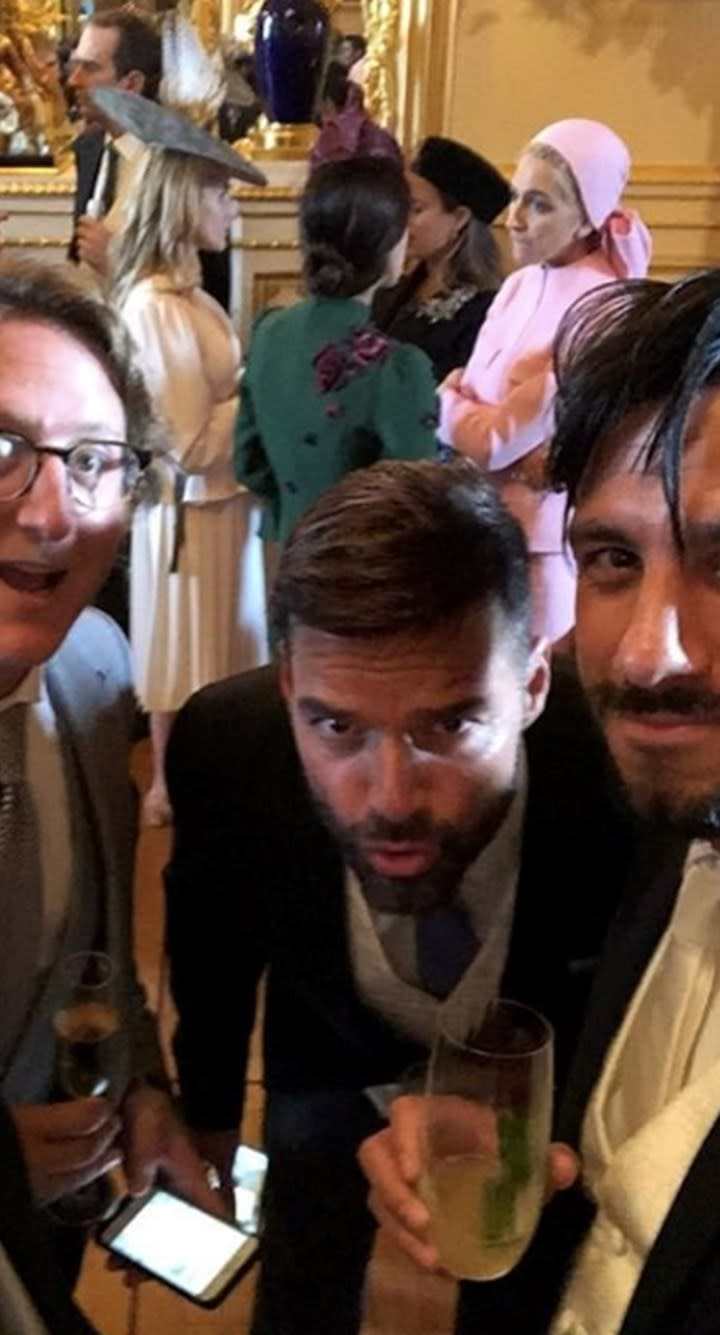 Ricky Martin having a great time mingling with fellow guests. Photo: Instagram Photo: Instagram/stellamccartney, Princess Eugenie and Jack Brooksbank tied the knot on Friday and had a strict 'no social media' policy for guests. Photo: Getty, princess eugenie wedding, royal wedding, jack brooksbank, demi moore royal wedding, robbie williams royal wedding, ricky martin royal wedding