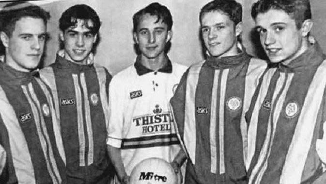 Nicky Byrne (kanan) di akademi Leeds United. (Twitter)