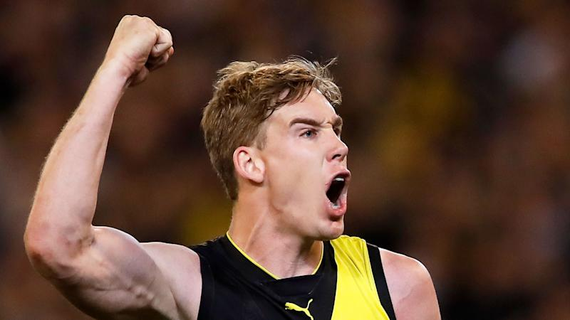 Tom Lynch starred in Richmond's preliminary final win over Geelong.