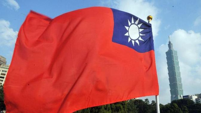 Ilustarsi bendera Taiwan (AFP/Mandy Cheng)
