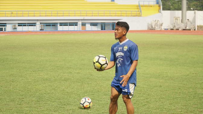 Ghozali Siregar bukukan lima gol musim ini di Persib. (Huyogo Simbolon)